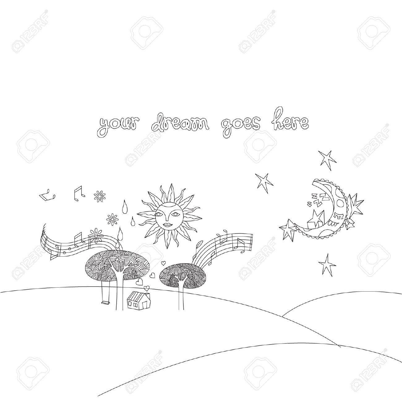 Doodle landscape Stock Vector - 14799003
