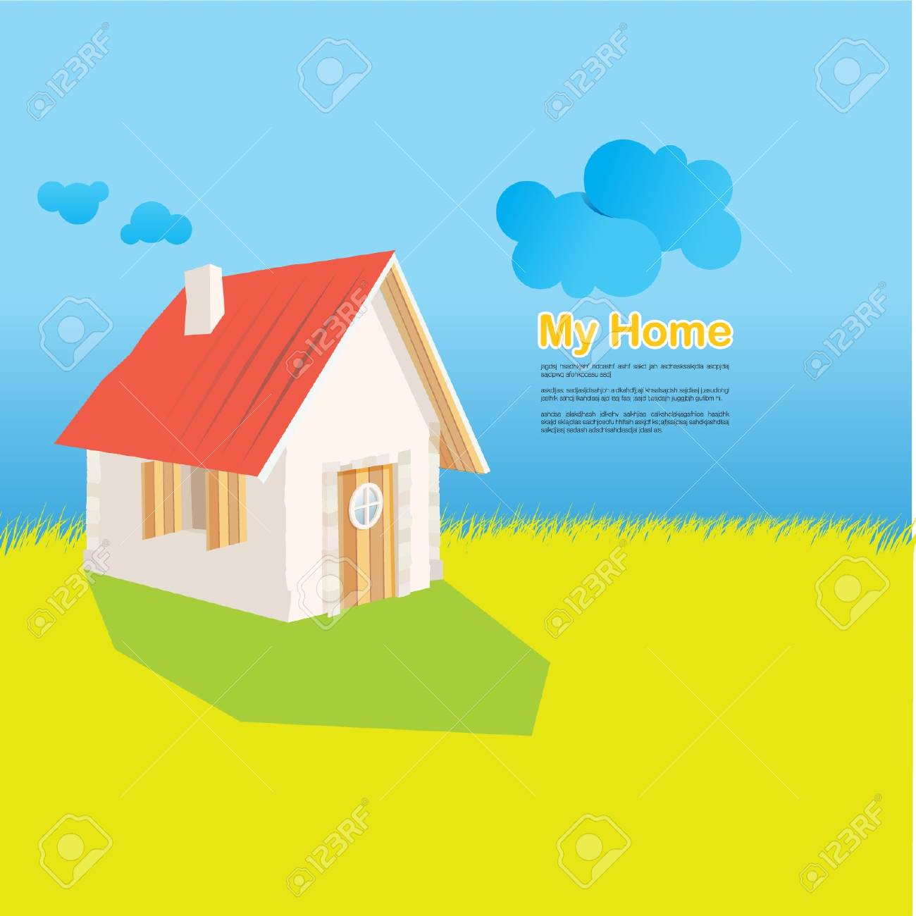 The Cottage Stock Vector - 16324373