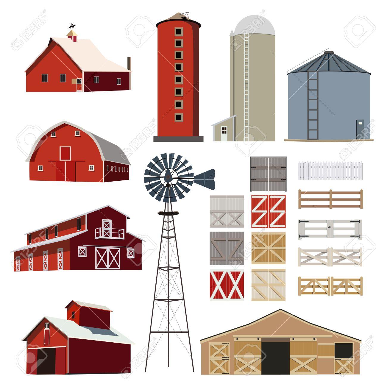 Farm house Building Livestock vector - 58851814