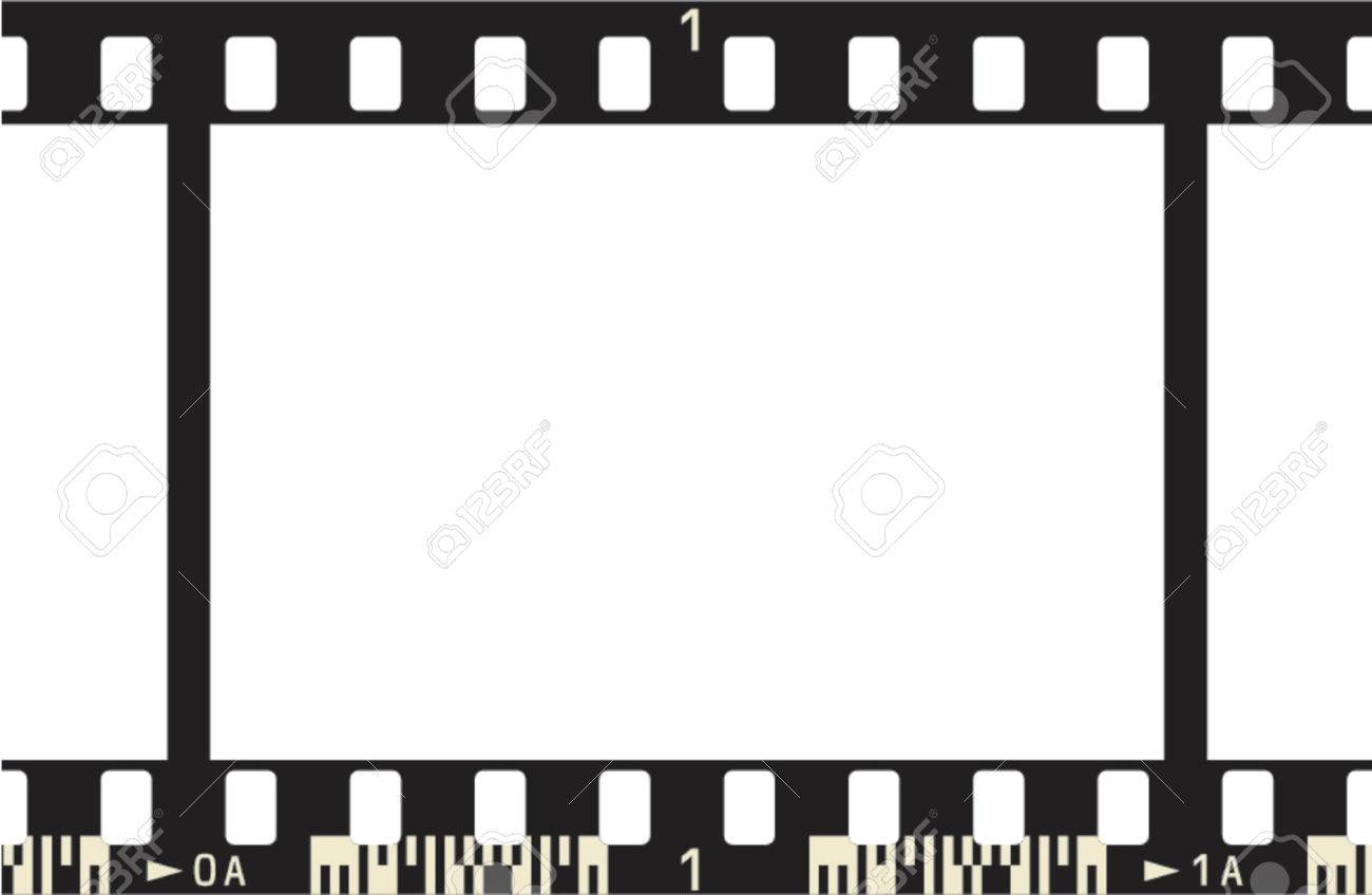 photographic film frame with frame numbers and code stock vector 685940