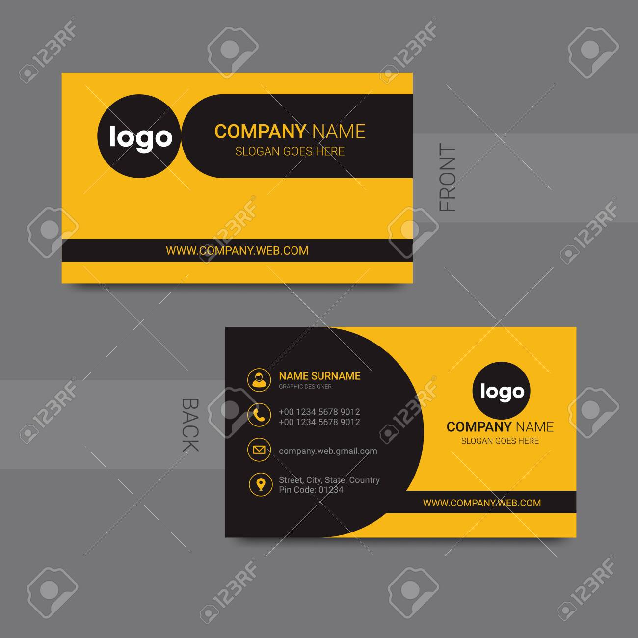 Presentation Card Template from previews.123rf.com