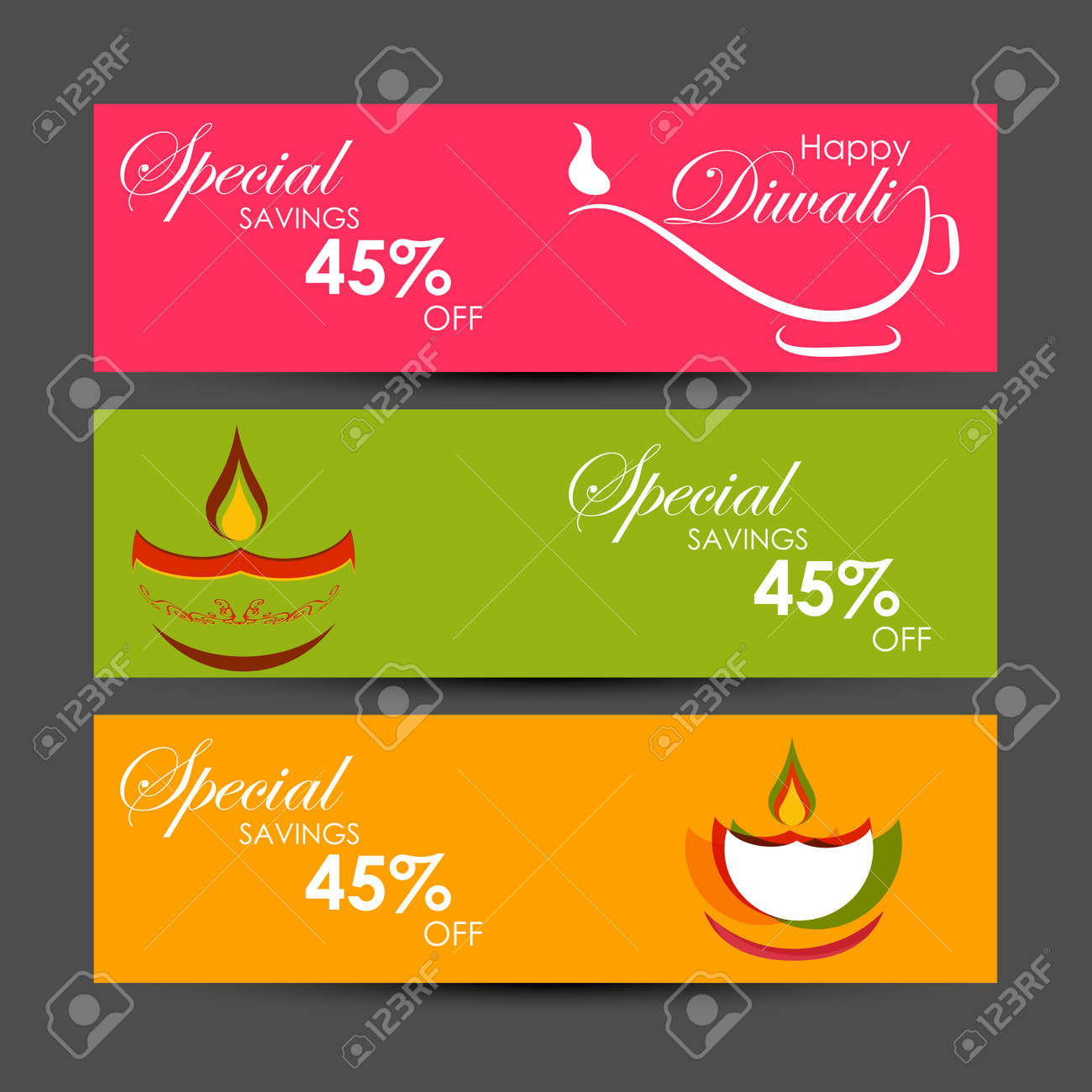 Vector illustration or greeting card of Diwali festival with stylish beautiful oil lamp and Diwali elements,Diwali SALE, Diwali Special offer background. - 168071223
