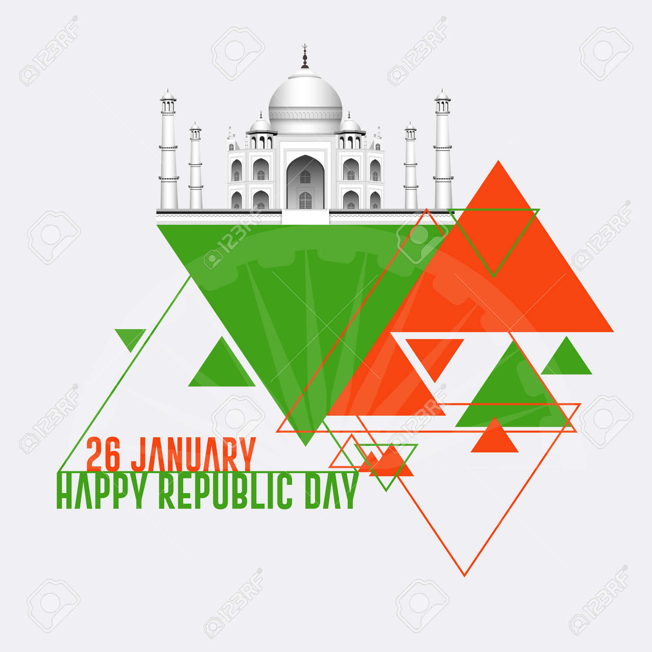 Indian Republic day concept with text 26 January. - 168072775