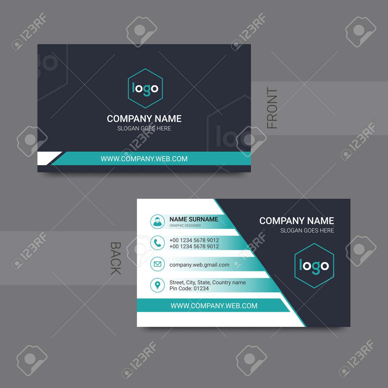 Modern professional business card design vector. Vector illustration. - 168074122