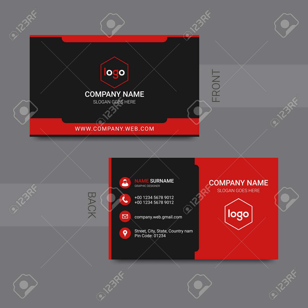Modern professional business card design vector. Vector illustration. - 168074131