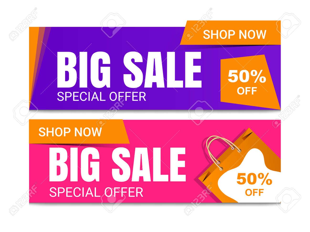Super sale banner templete design for media promotions and Sale banner template design. - 168073236
