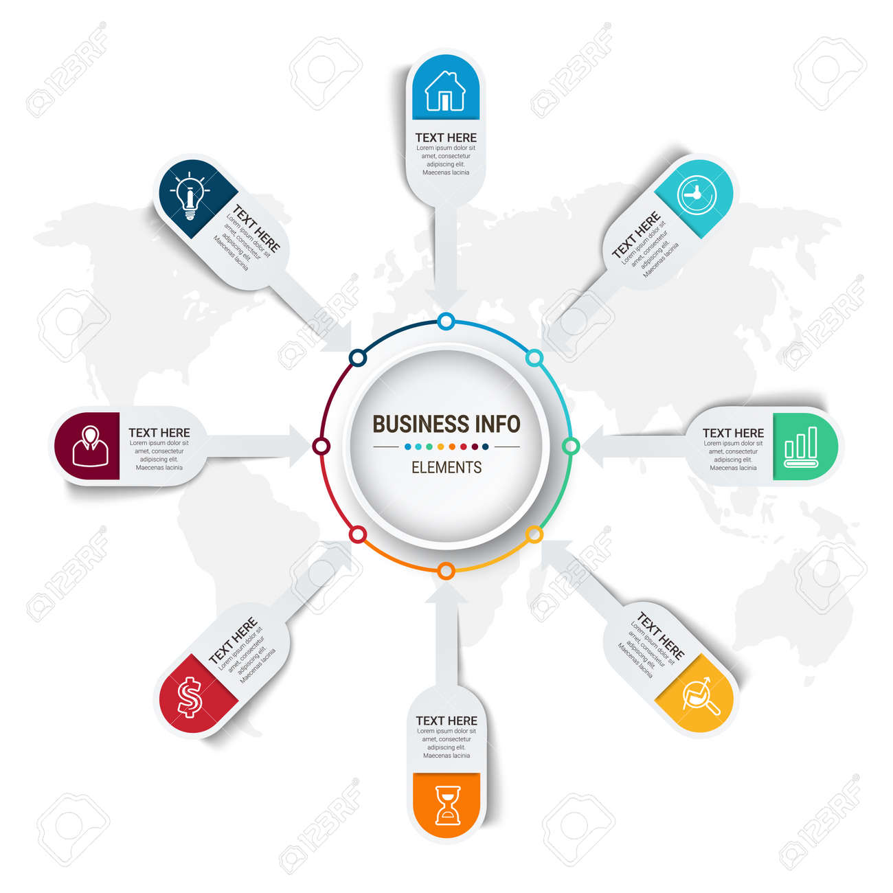 Vector Business infographics. Financial analysis data graphs and diagram, marketing statistic workflow modern business presentation elements vector investment progress icon. - 168420625