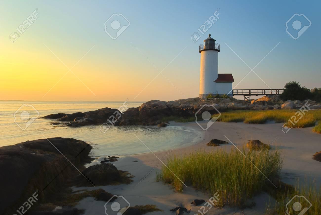 Anisquam lighthouse Stock Photo - 4006486