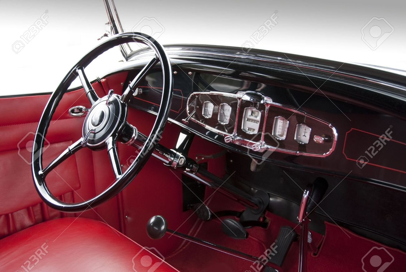 Classic Car Interior From The 1930ies Stock Photo, Picture And ...