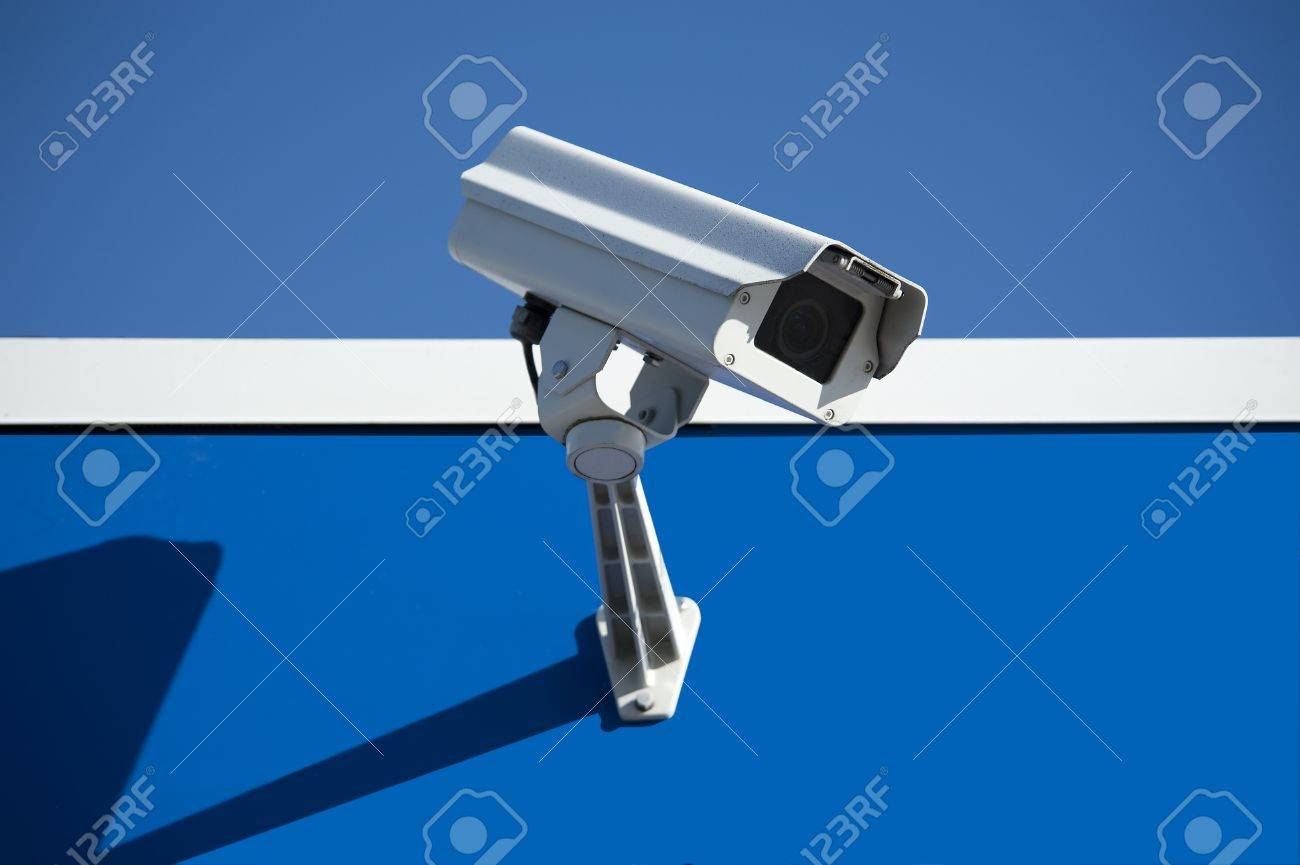 Security surveillance camera on the side of an industrial building Stock Photo - 8685113