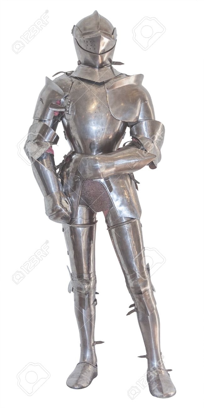 A vintage european full body armor suit, isolated Stock Photo - 16064008