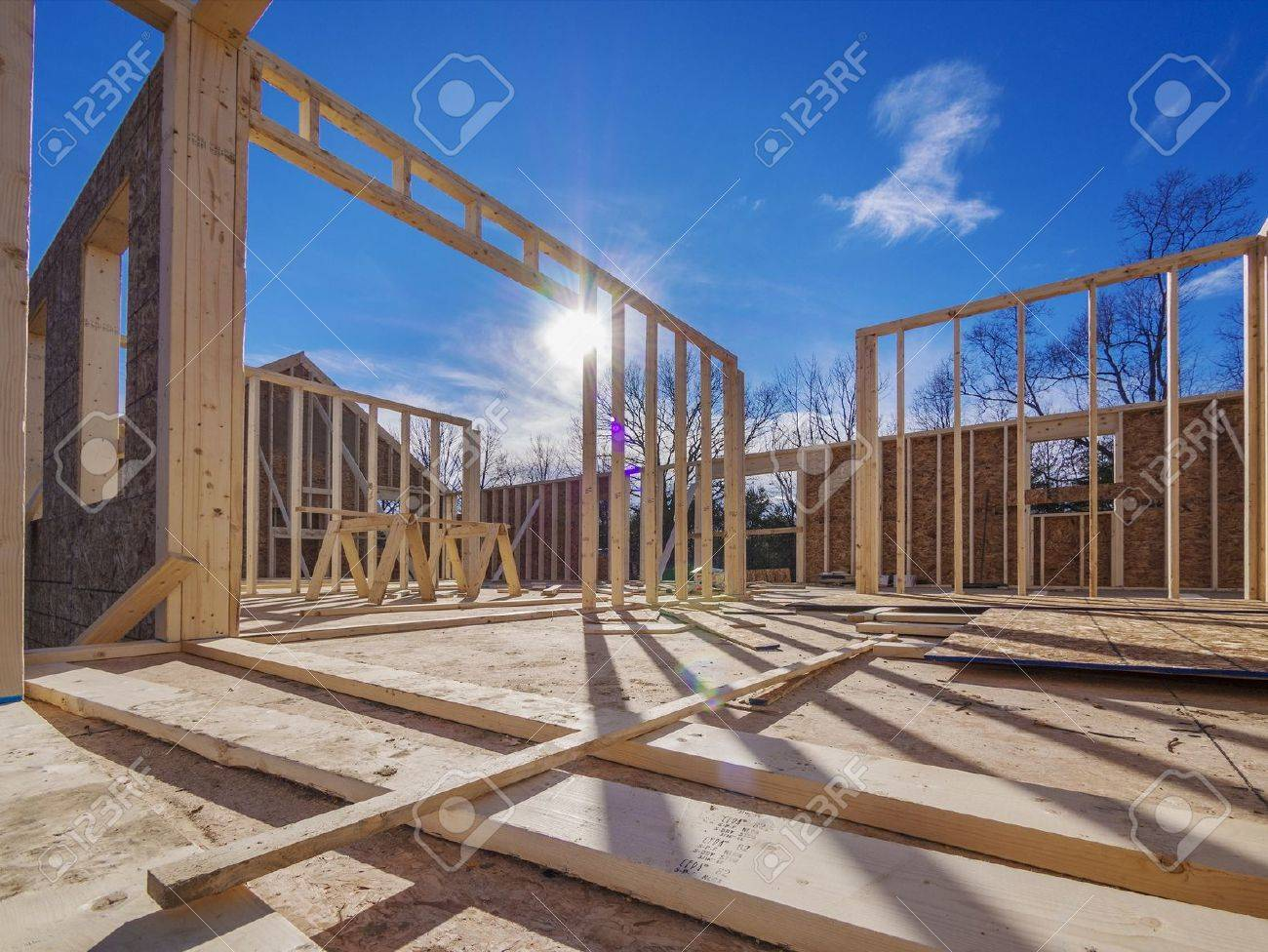 new house framing construction stock photo picture and royalty free