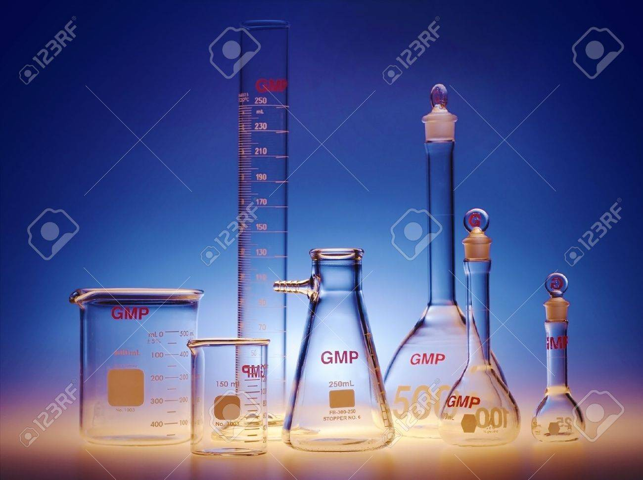 Test-tubes glassware used in chemistry and biology laboratories Stock Photo - 17107194