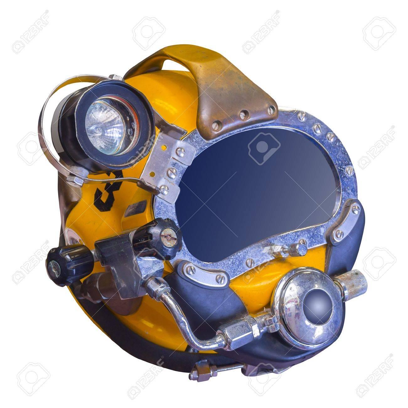 Deep sea diving helmet, isolated Stock Photo - 21936113