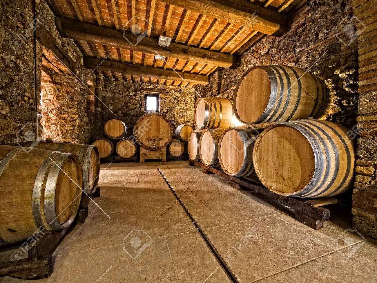 oak wine barrels. Exellent Wine Oak Wine Barrels Stacked In A Winery Cellar Stock Photo  23890137 To Oak Wine Barrels G