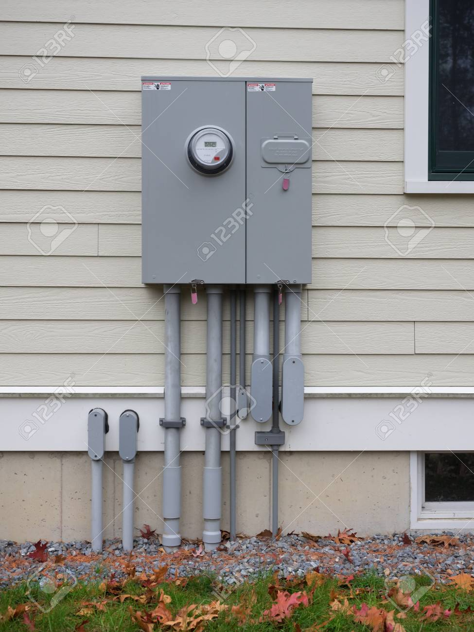 Outdoor Electrical Panel On New House Stock Photo, Picture And ...