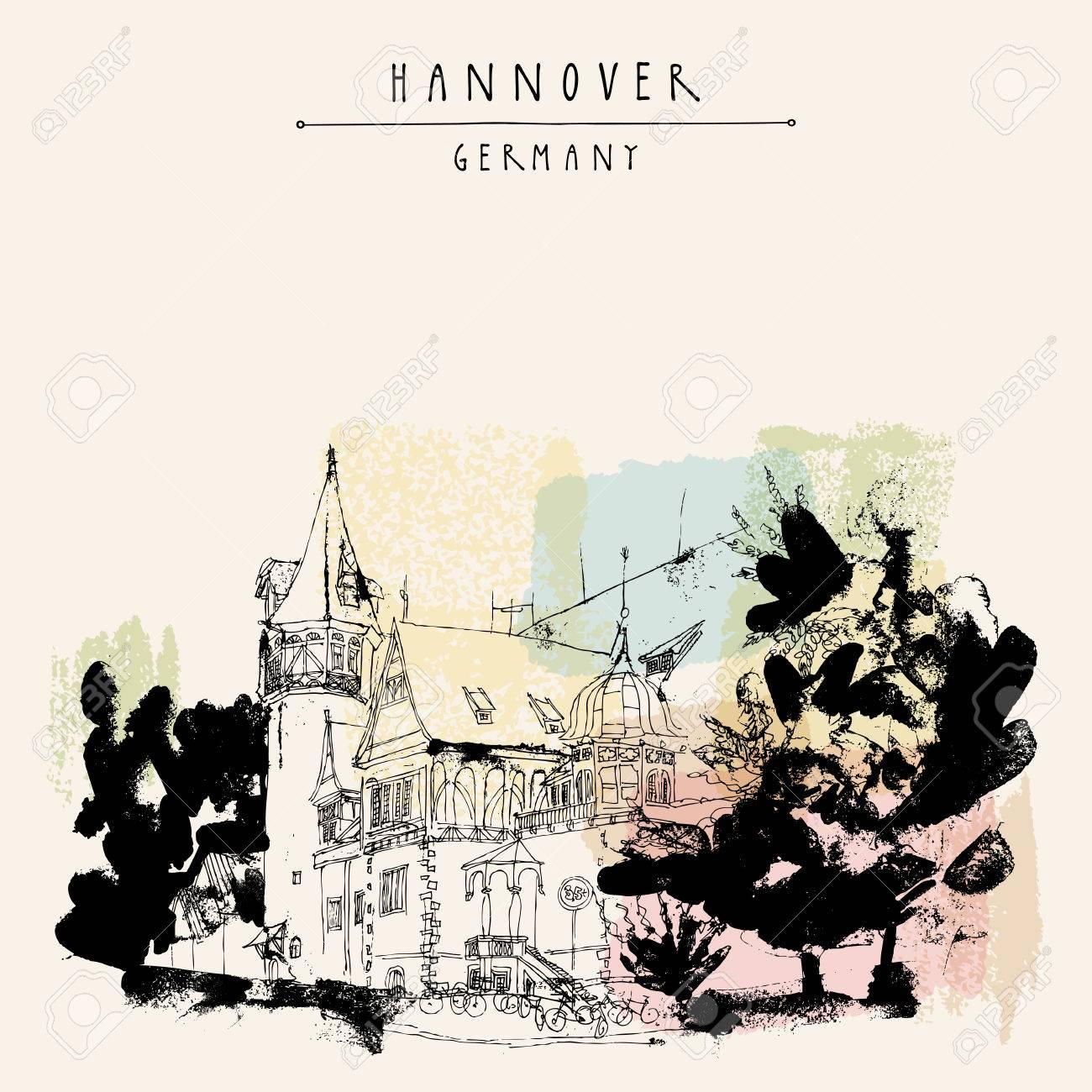 Hannover, Deutschland, Europa. Eine Schöne Alte Villa Und Bäumen ...