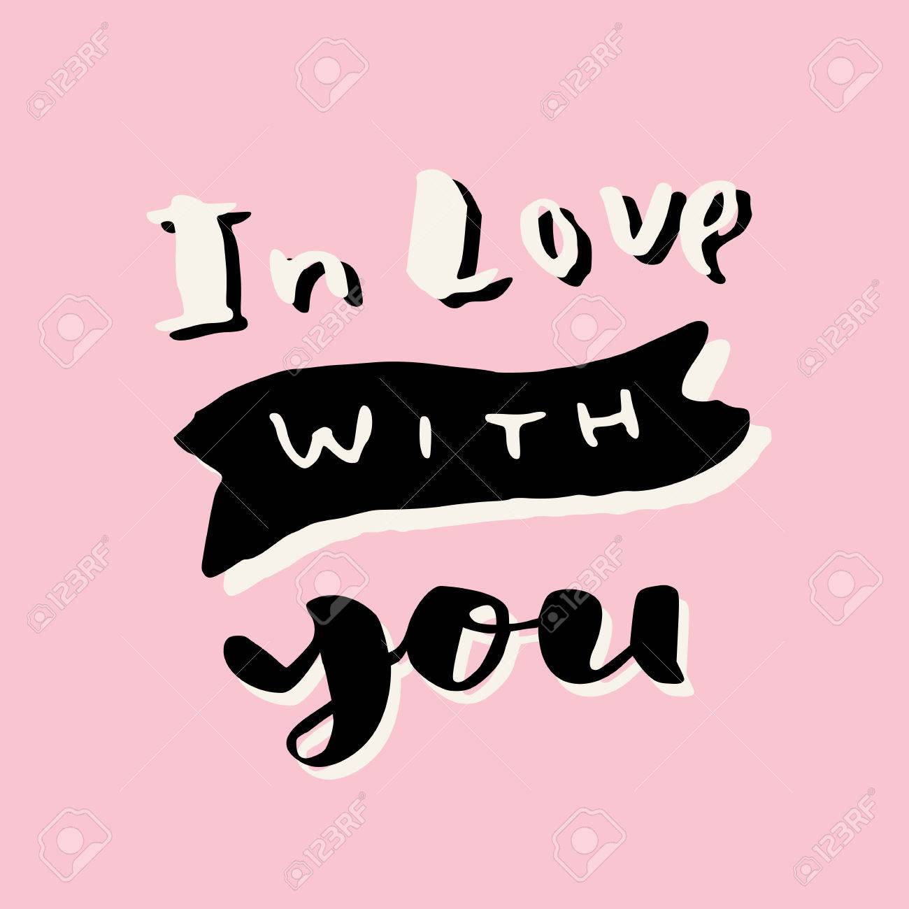 In love with you valentines day hand lettering greeting card in love with you valentines day hand lettering greeting card love message modern m4hsunfo