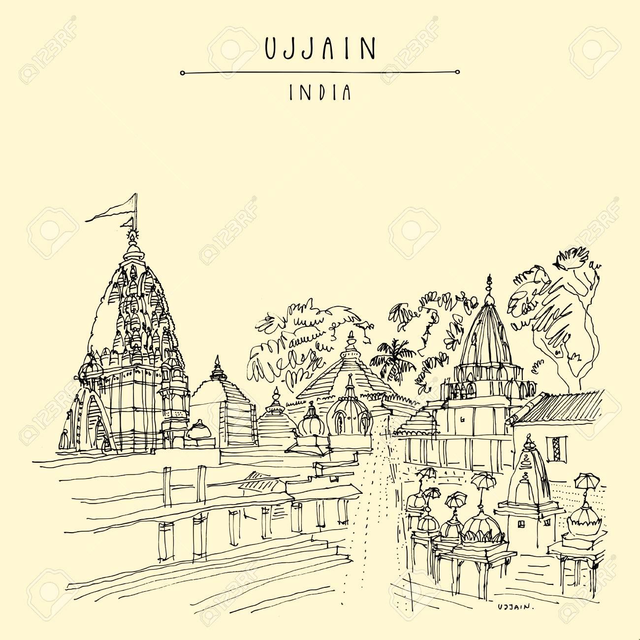 Mahakal mandir mahakaleshwar temple in holy city of ujjain madha pradesh india