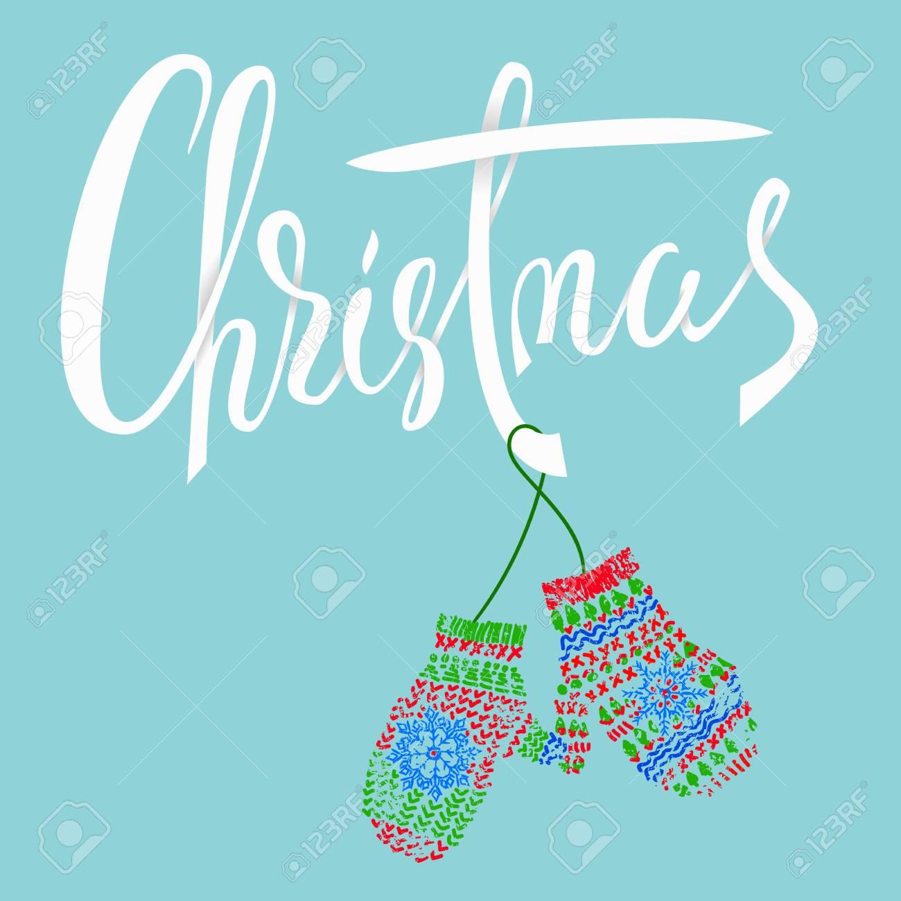 Moderne Weihnachtskarten.Stock Photo