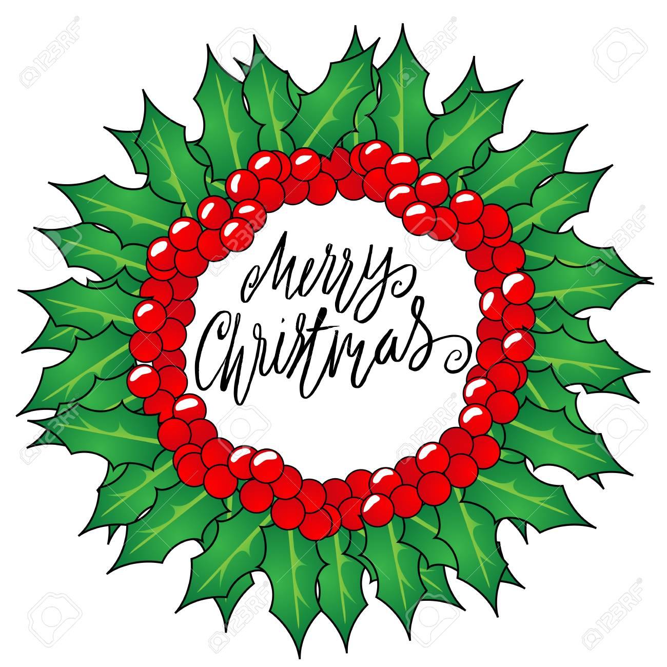 tarjeta de felicitacin con unas guirnaldas de navidad y feliz navidad del mensaje letras de - Guirnaldas De Navidad