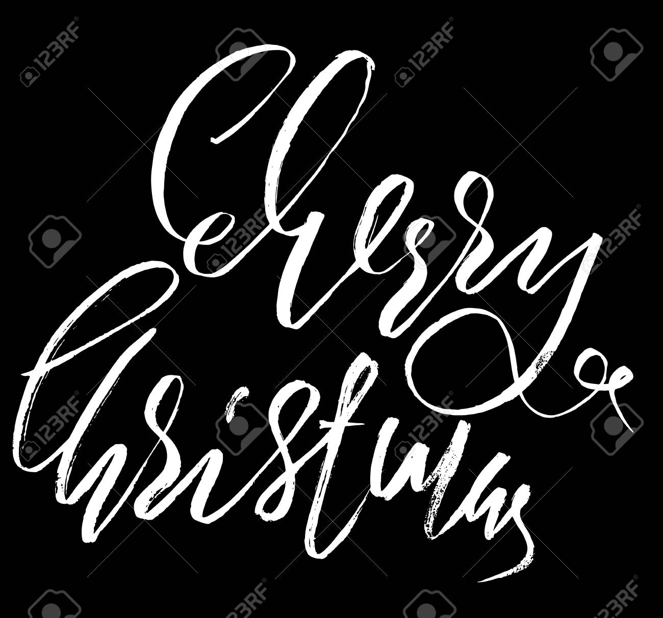 Classic Lettering Design For A Christmas Greetings Card Black