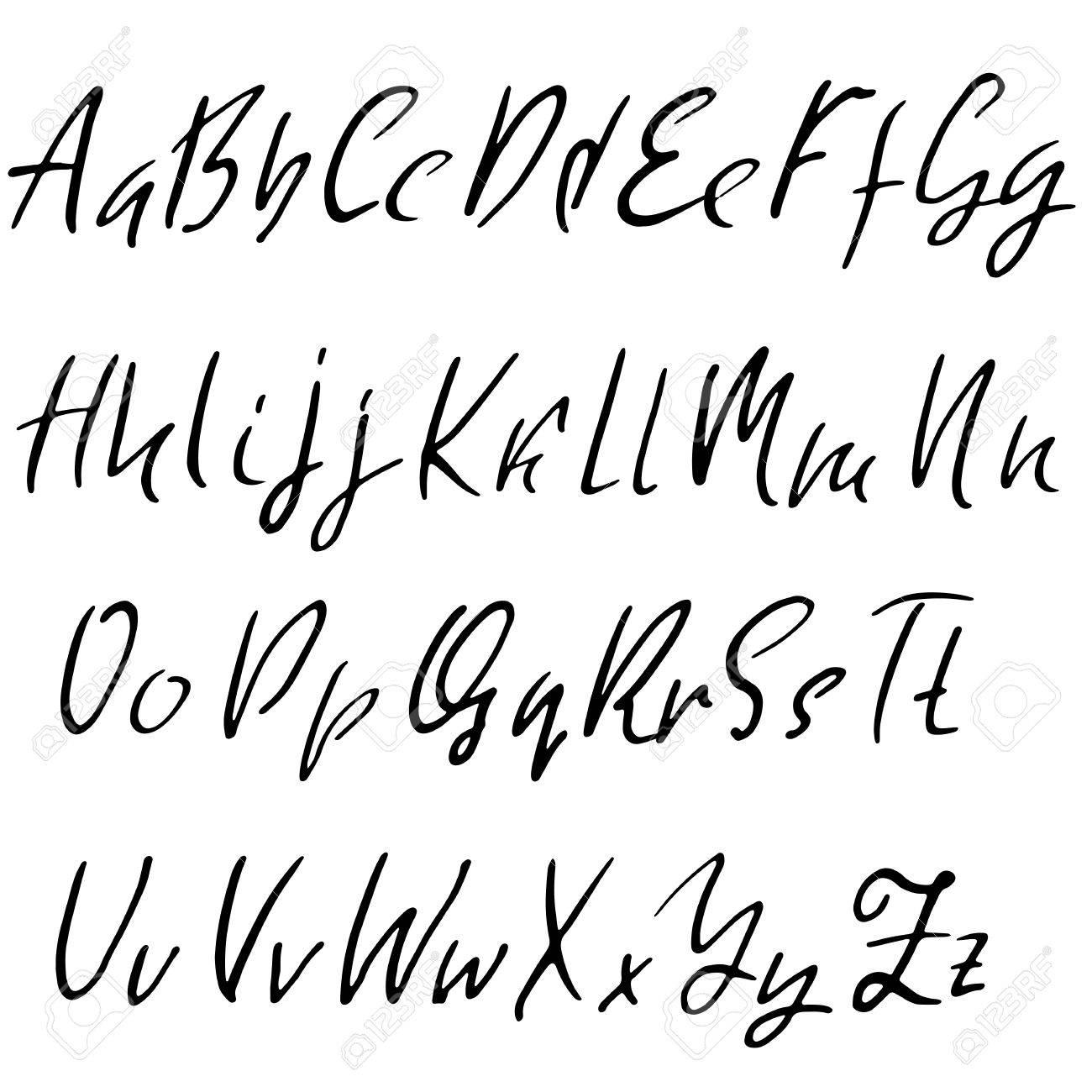 Hand drawn elegant calligraphy font  Modern brush lettering