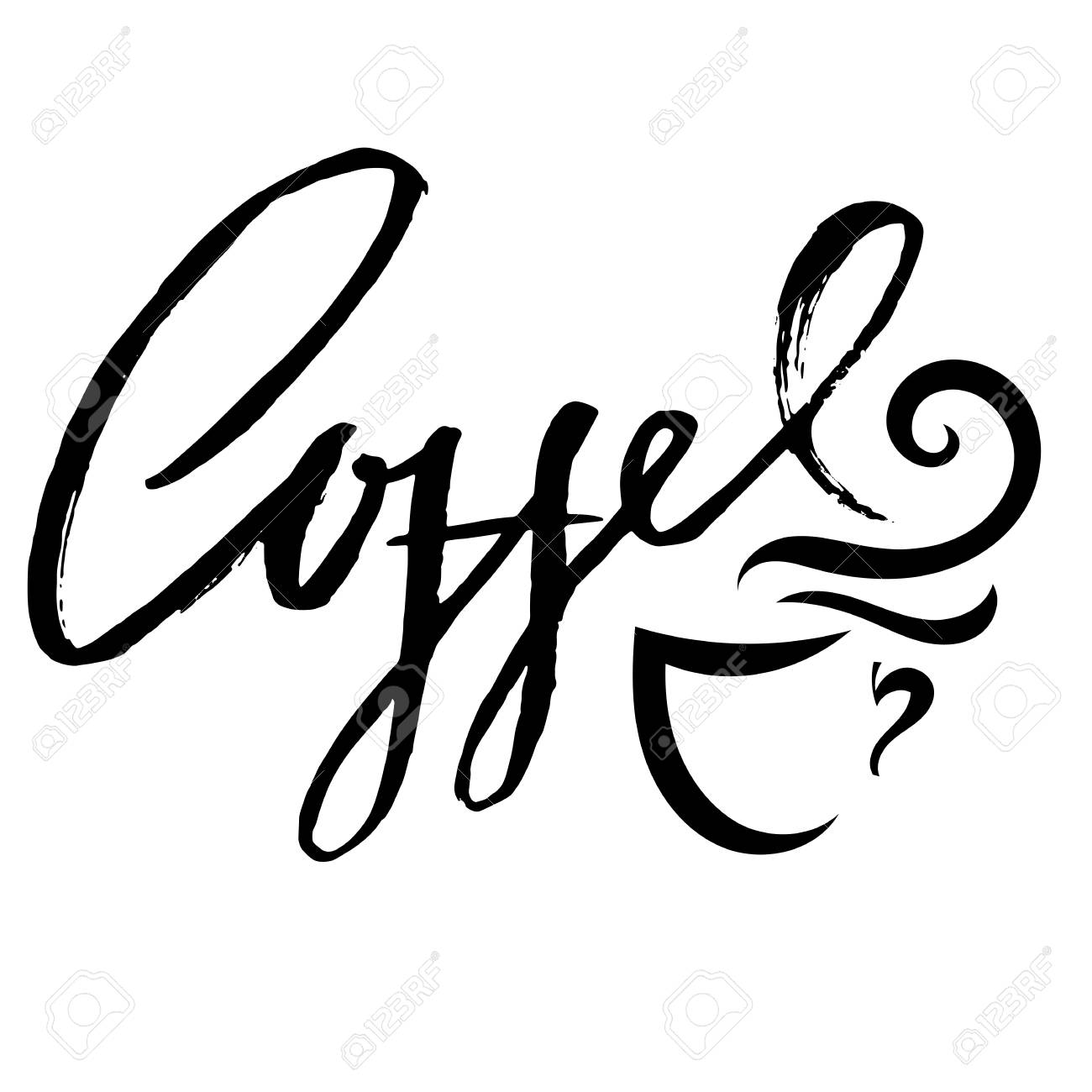 Citaten Koffie English : Coffee cup. modern dry brush lettering. coffee quotes. hand written