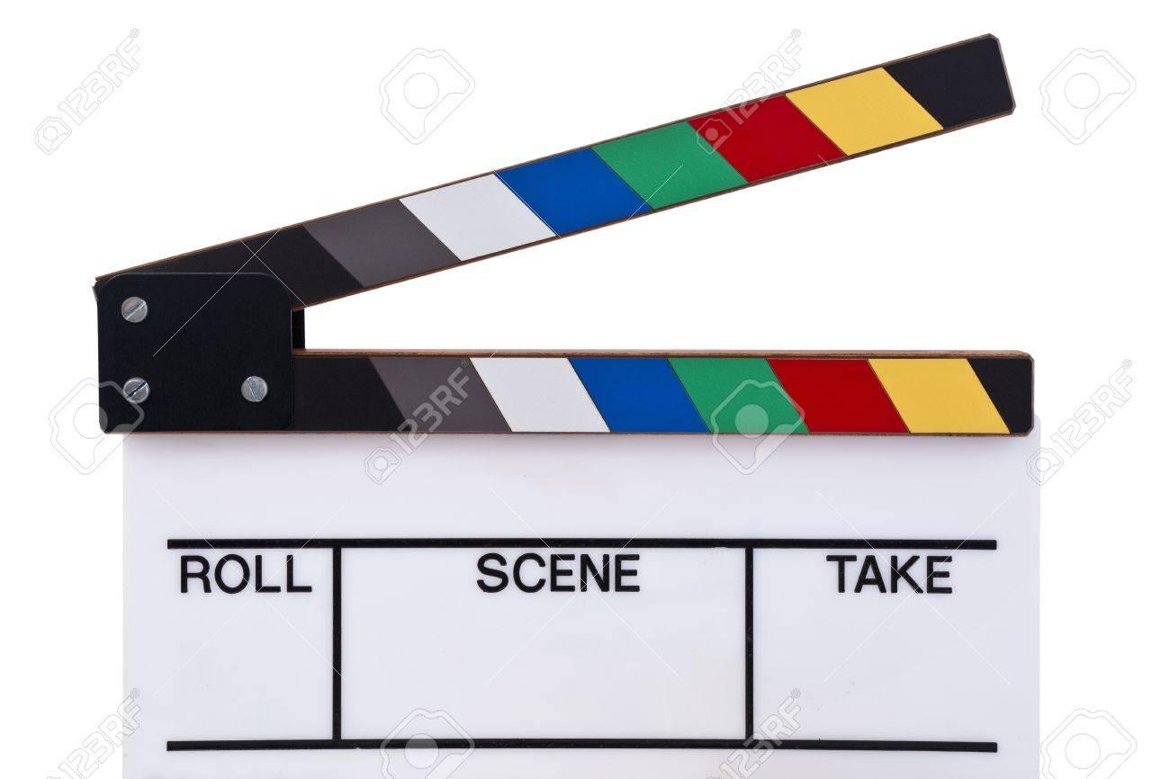a color movie clapper board Stock Photo - 10715085