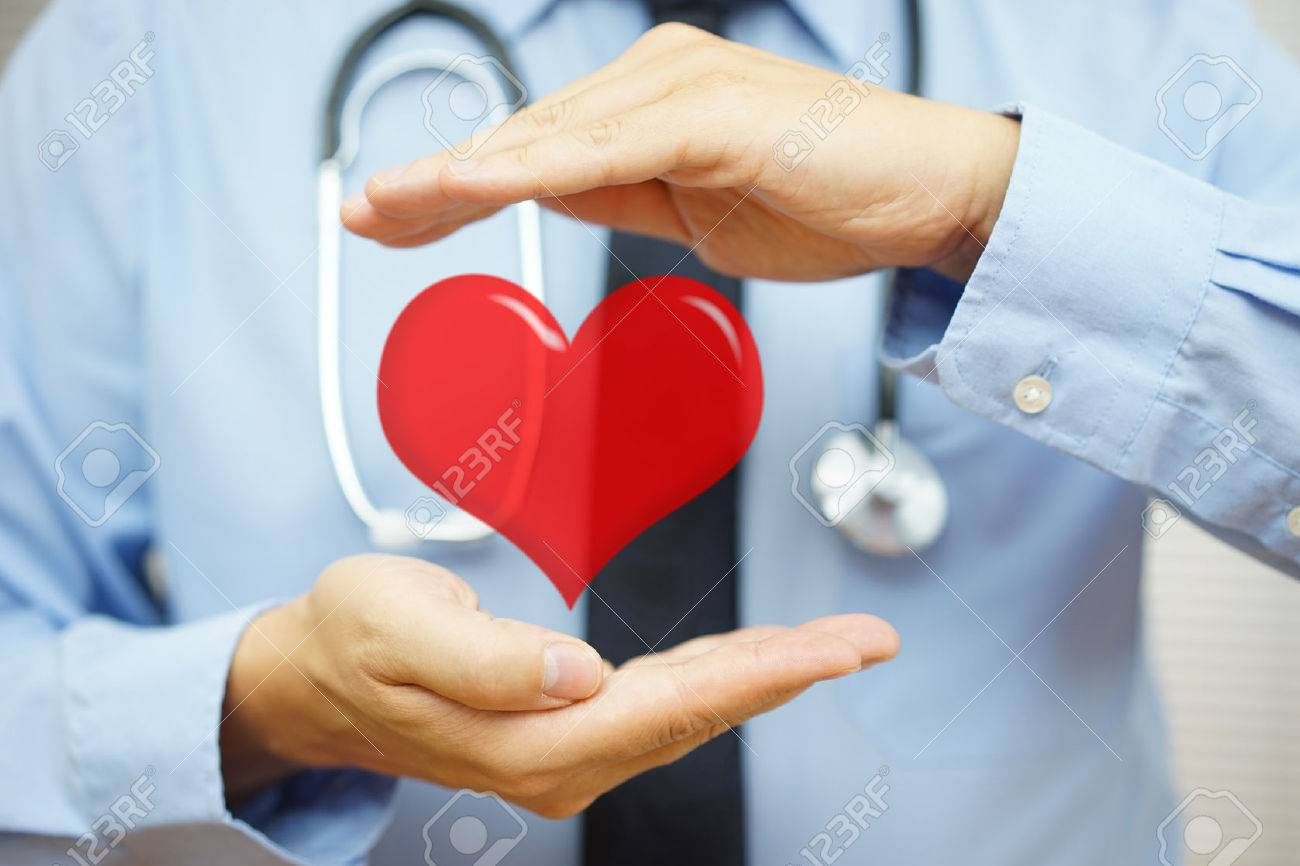 doctor is protecting heart  with hands. Health care and  Cardiovascular diseases  concept Standard-Bild - 54519495