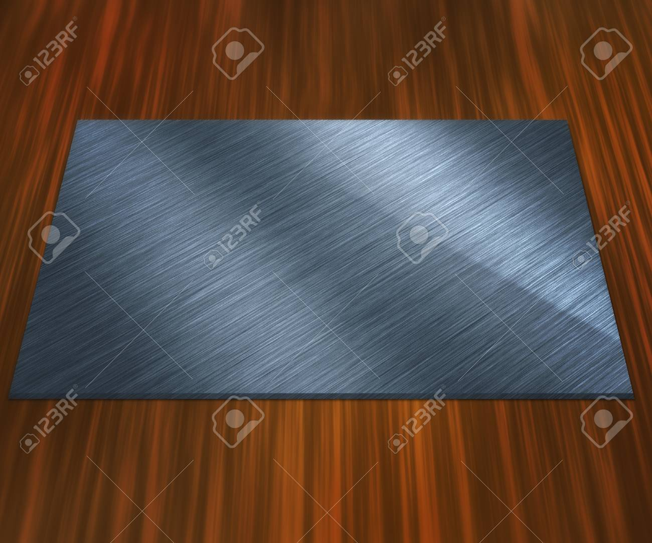 Blank Silver Plate Stock Photo - 13698757