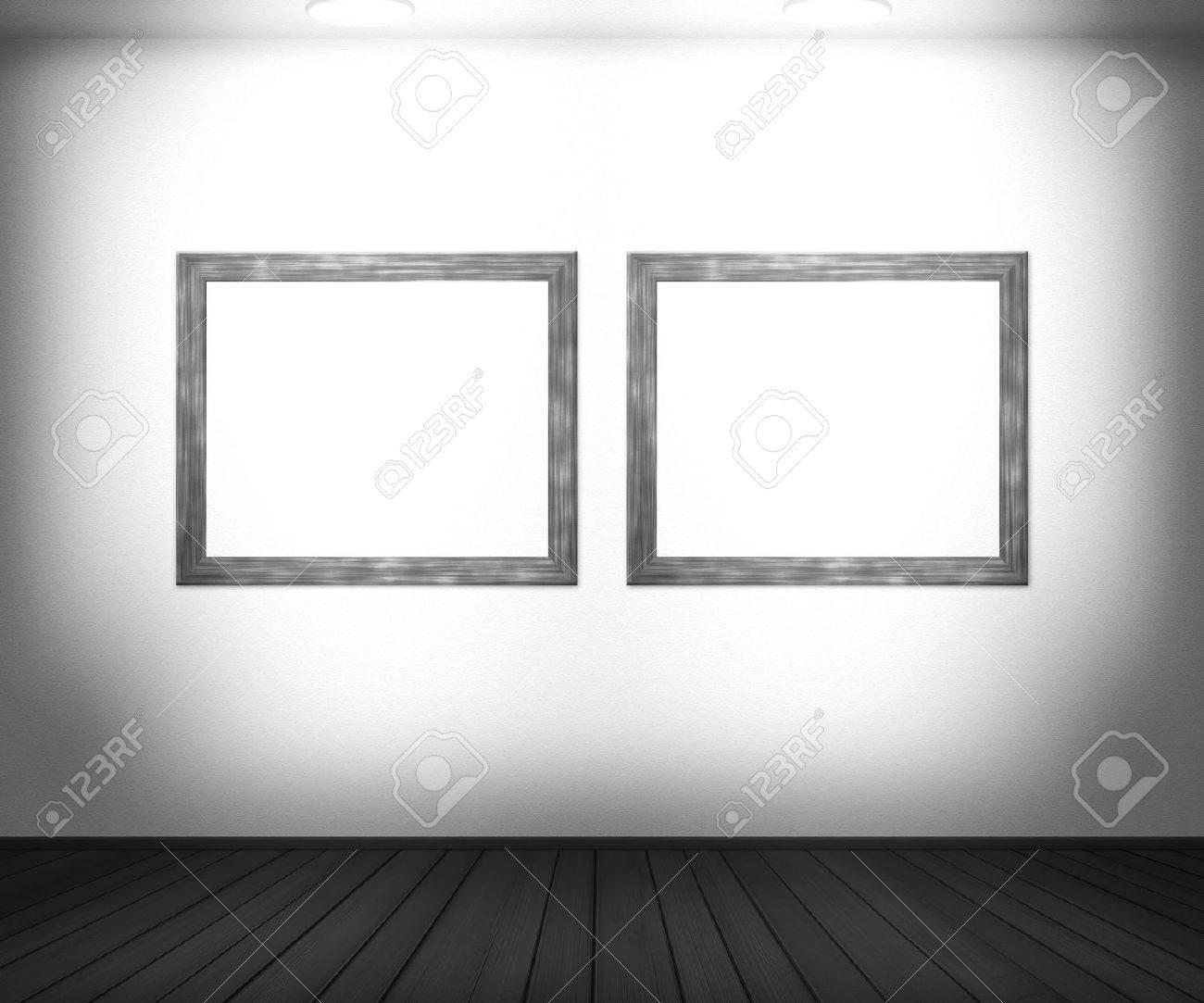 White Gallery Background Stock Photo - 14205004