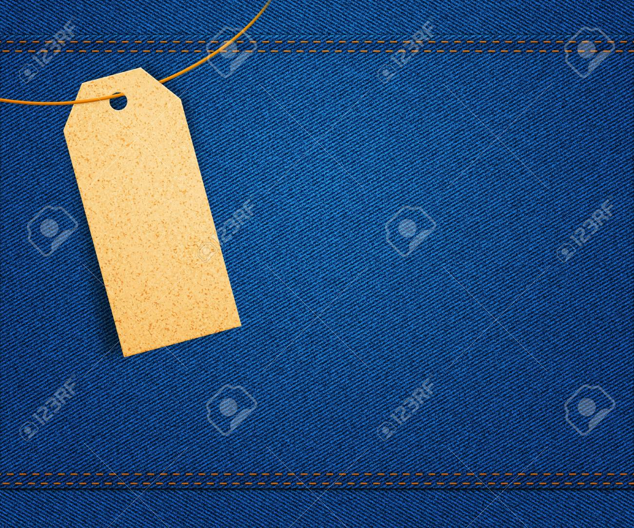 Clothes Label on Jeans Stock Photo - 14844073