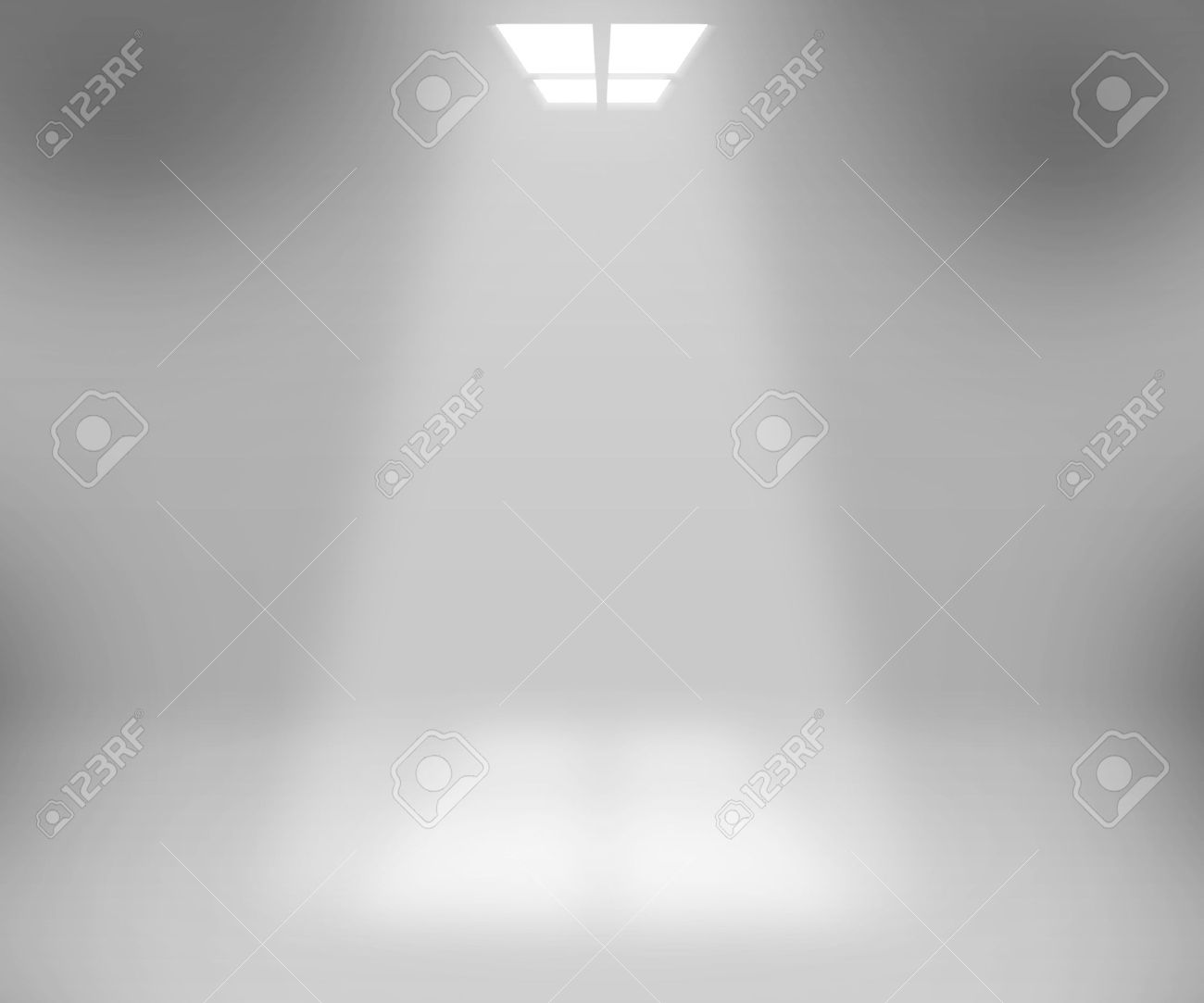 Spotlight White Room Background Stock Photo - 15223617