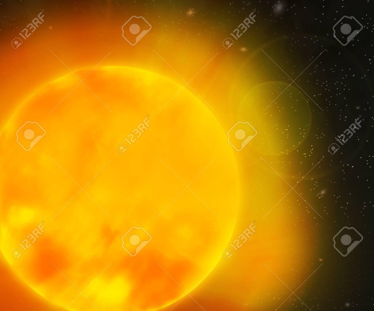 Sun Nebula Space Backdrop Stock Photo - 21138494