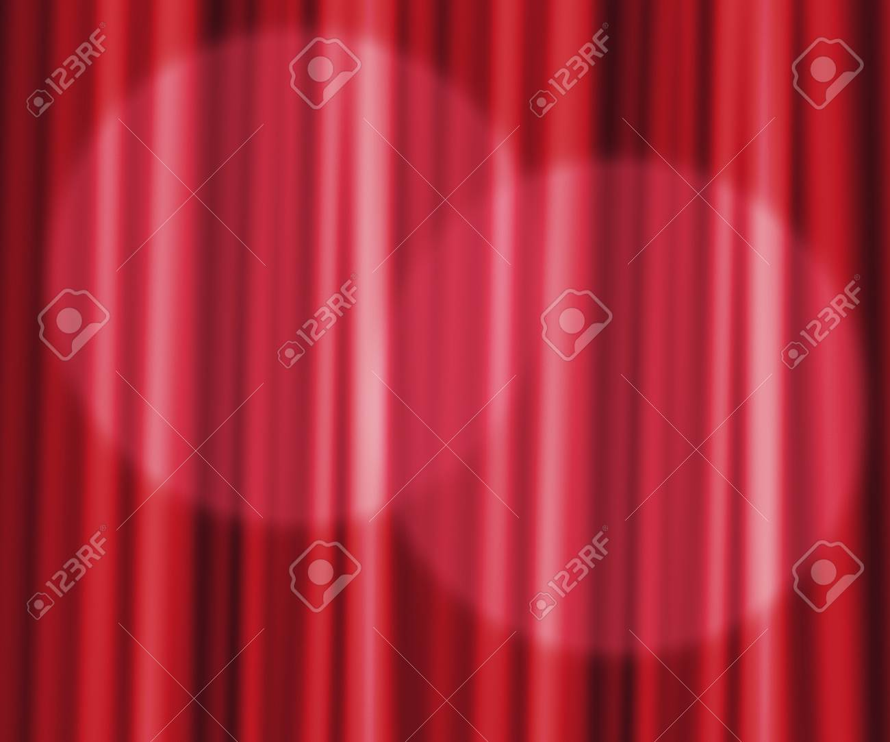 Red Curtain Photographic Backdrop Stock Photo