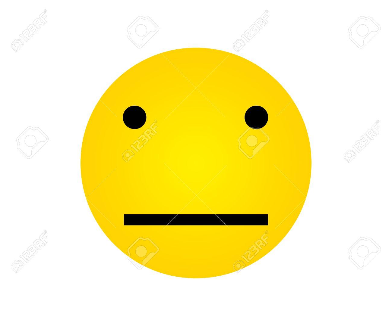 中性表情と黄色い顔 の写真素材...