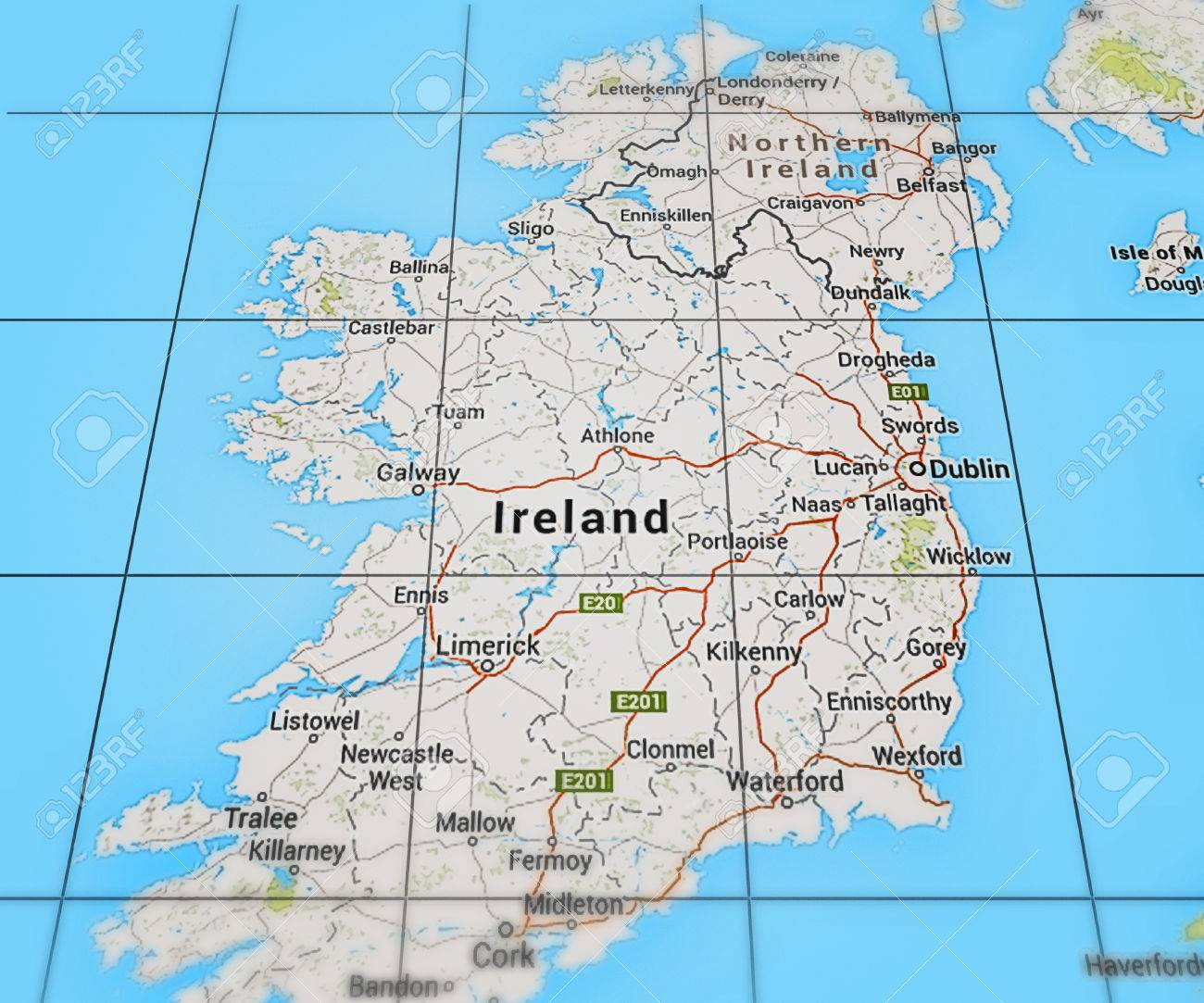 Ireland On Map Stock Photo Picture And Royalty Free Image Image - Ireland on map