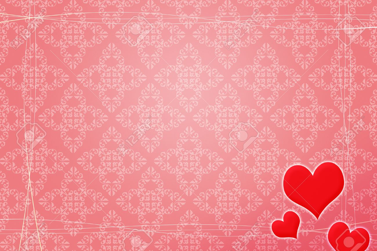 Red Wedding Background Stock Photo