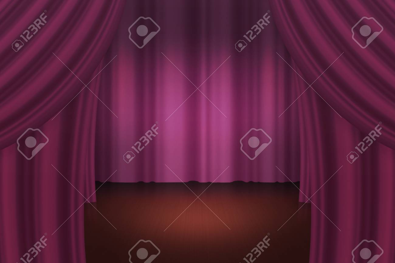 Dark Curtain Stage Backdrop