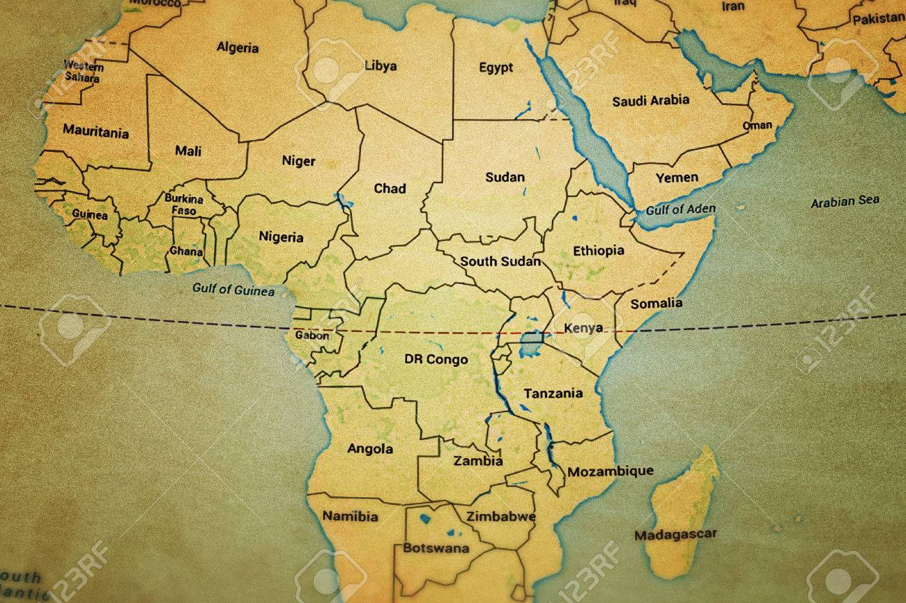 Africa Map Background.Africa Old Map Background Stock Photo Picture And Royalty Free