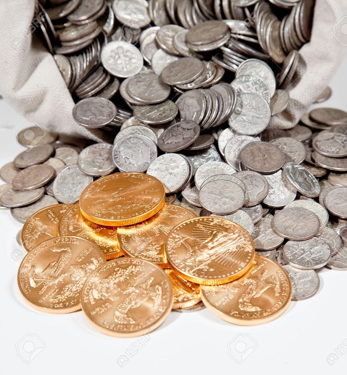 Pur Investir Vieilles Pièces Utilisé Pour En D'argent Lin Sac De N80PvwmynO