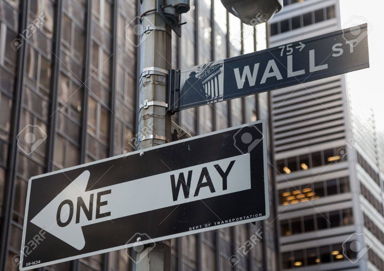 Image result for one-way sign on Wall Street