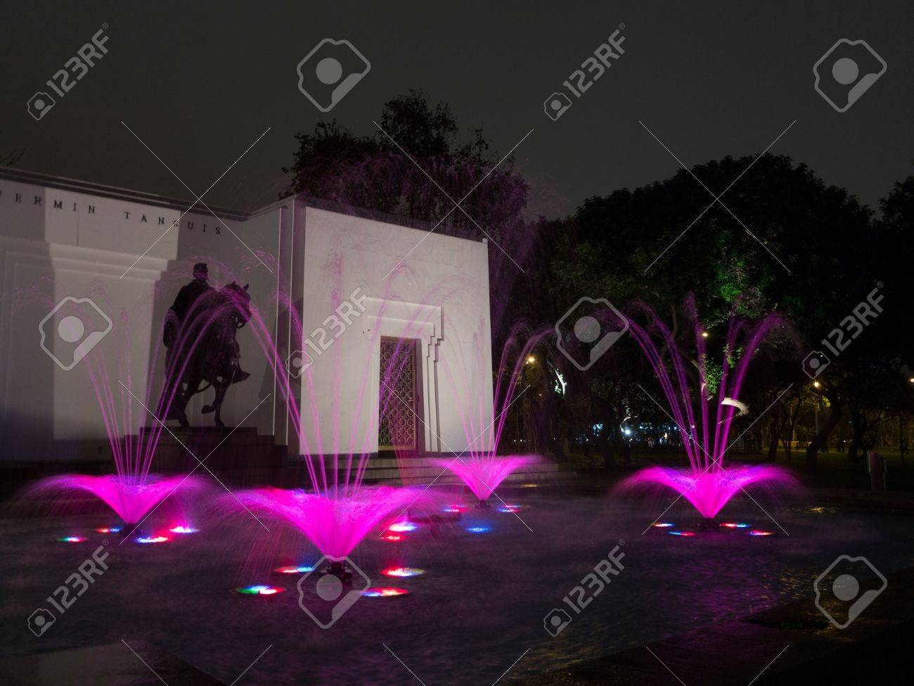 Water fountains lima - Illuminated Fountains At Dusk In Magical Water Circuit In Reserve Park Lima Peru World