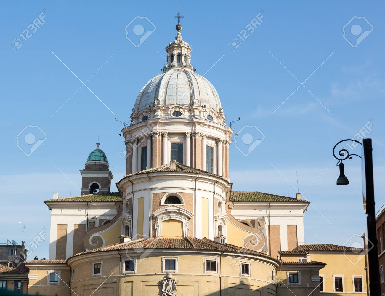 Detail of dome on church of San Carlo al Corso in Rome Italy Stock Photo - 18152704