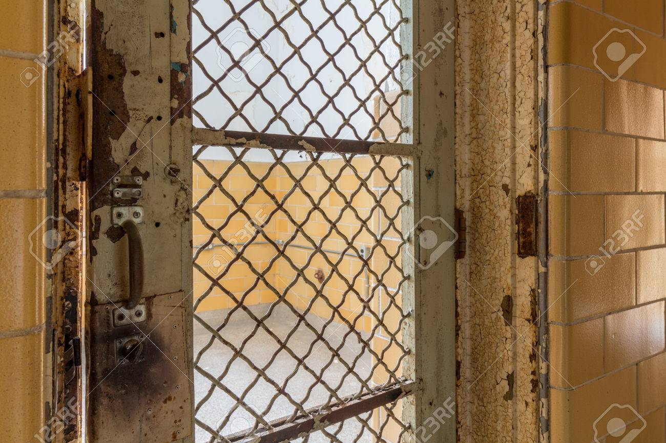 Metal Barred Door Leading To Cell Inside Trans-Allegheny Lunatic ...