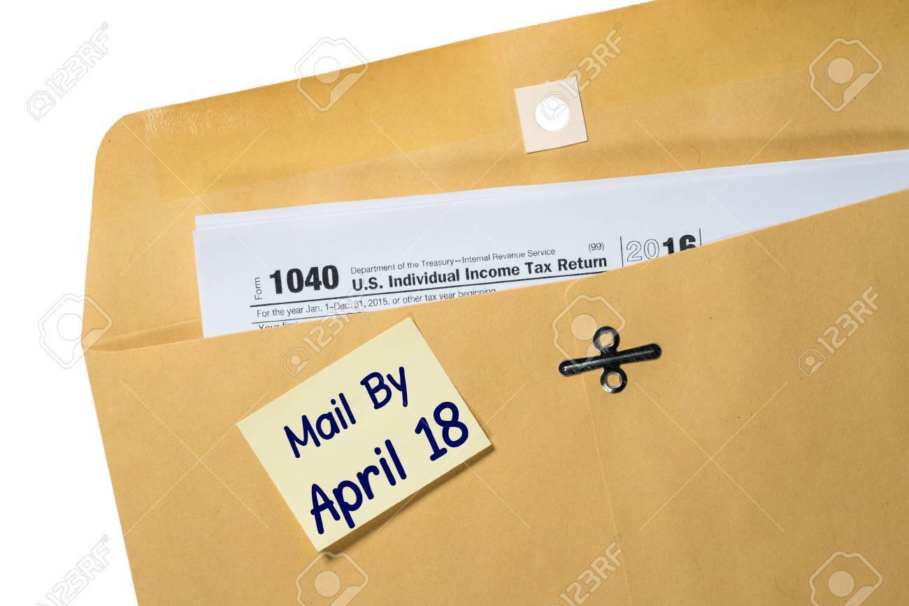Gedruckte Kopie Von Formular 1040 Für Die Steuererklärung Mit