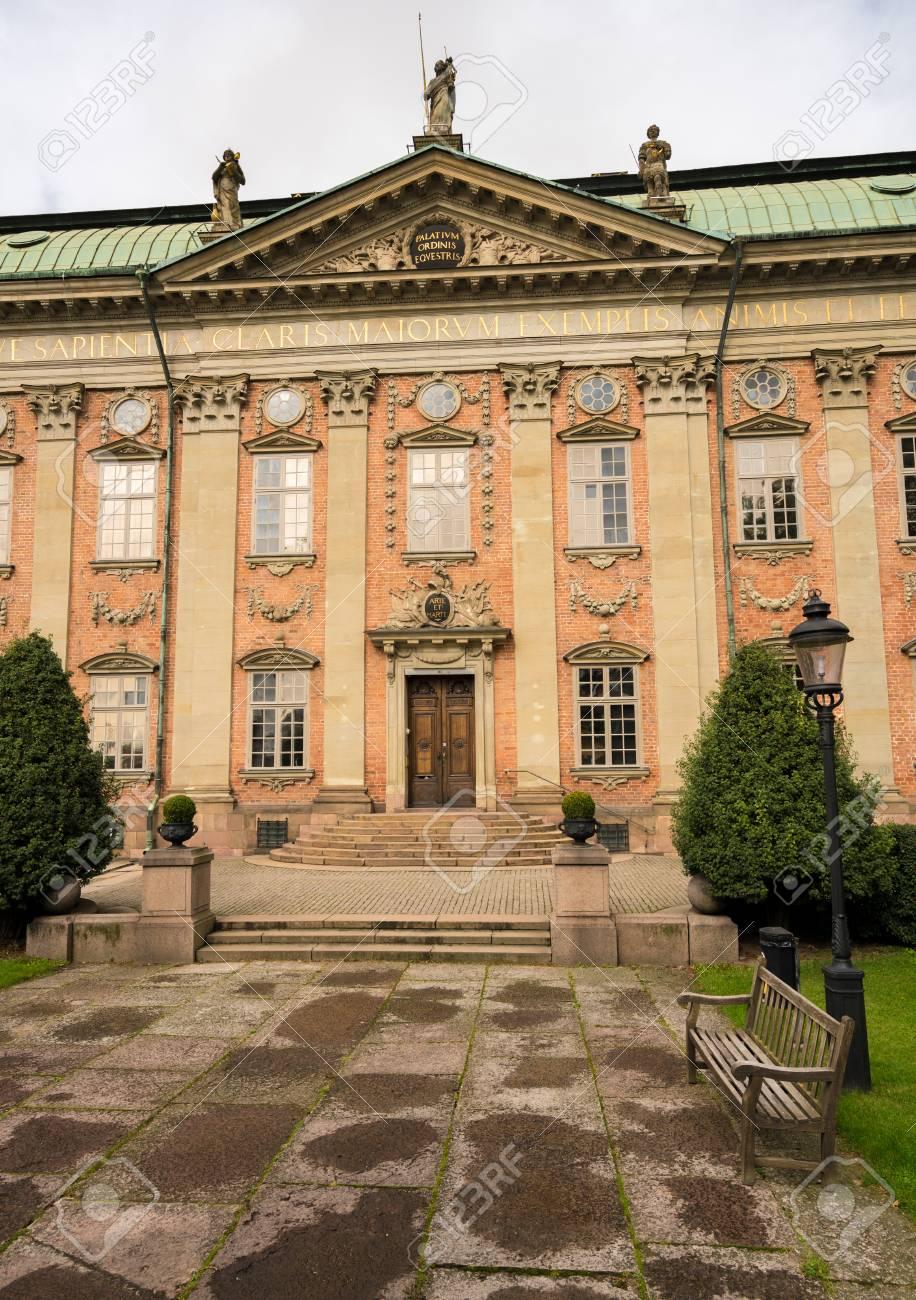 La Maison De La Suede façade de la maison de la noblesse à gamla stan, stockholm, suède
