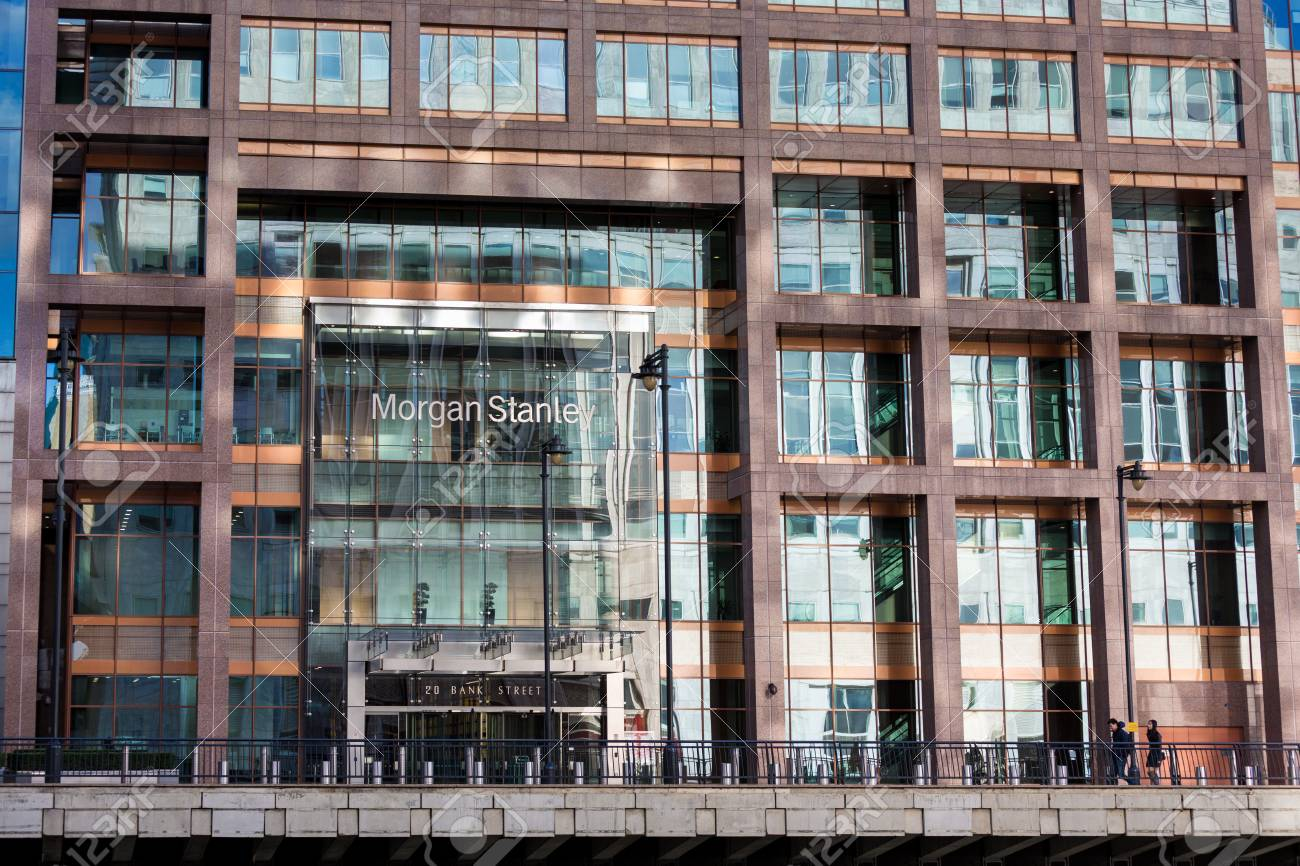 LONDON, UK - JANUARY 30, 2016: Logo or sign for Morgan Stanley