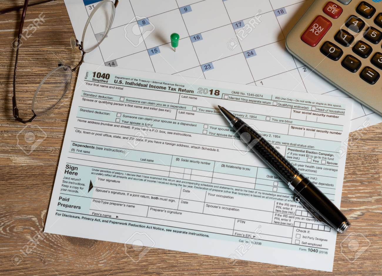 New Form 1040 Simplified for 2018 allows for filing on April